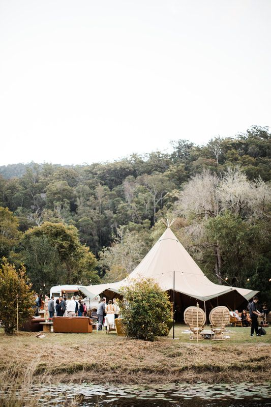 Tipi's and Marquee's are a popular new wedding venue trend