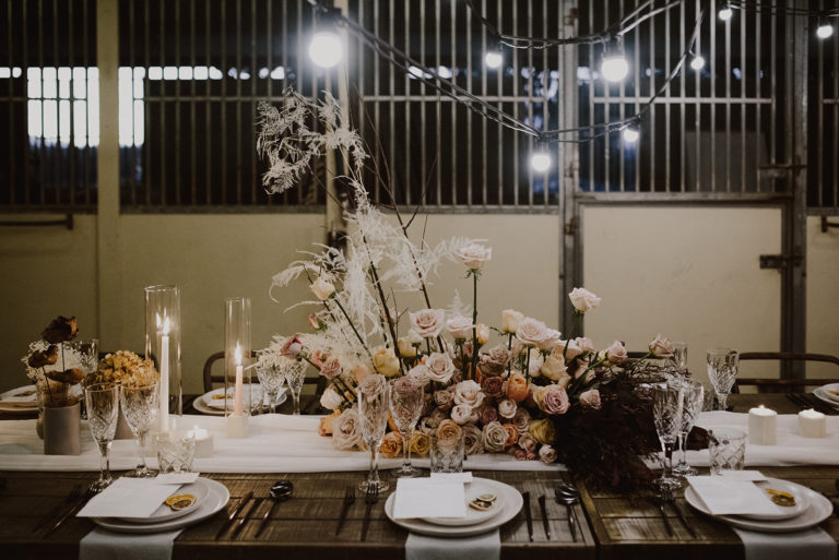 wedding table styled